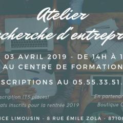 Atelier de recherche d'entreprise pour les futurs alternant à Limoges