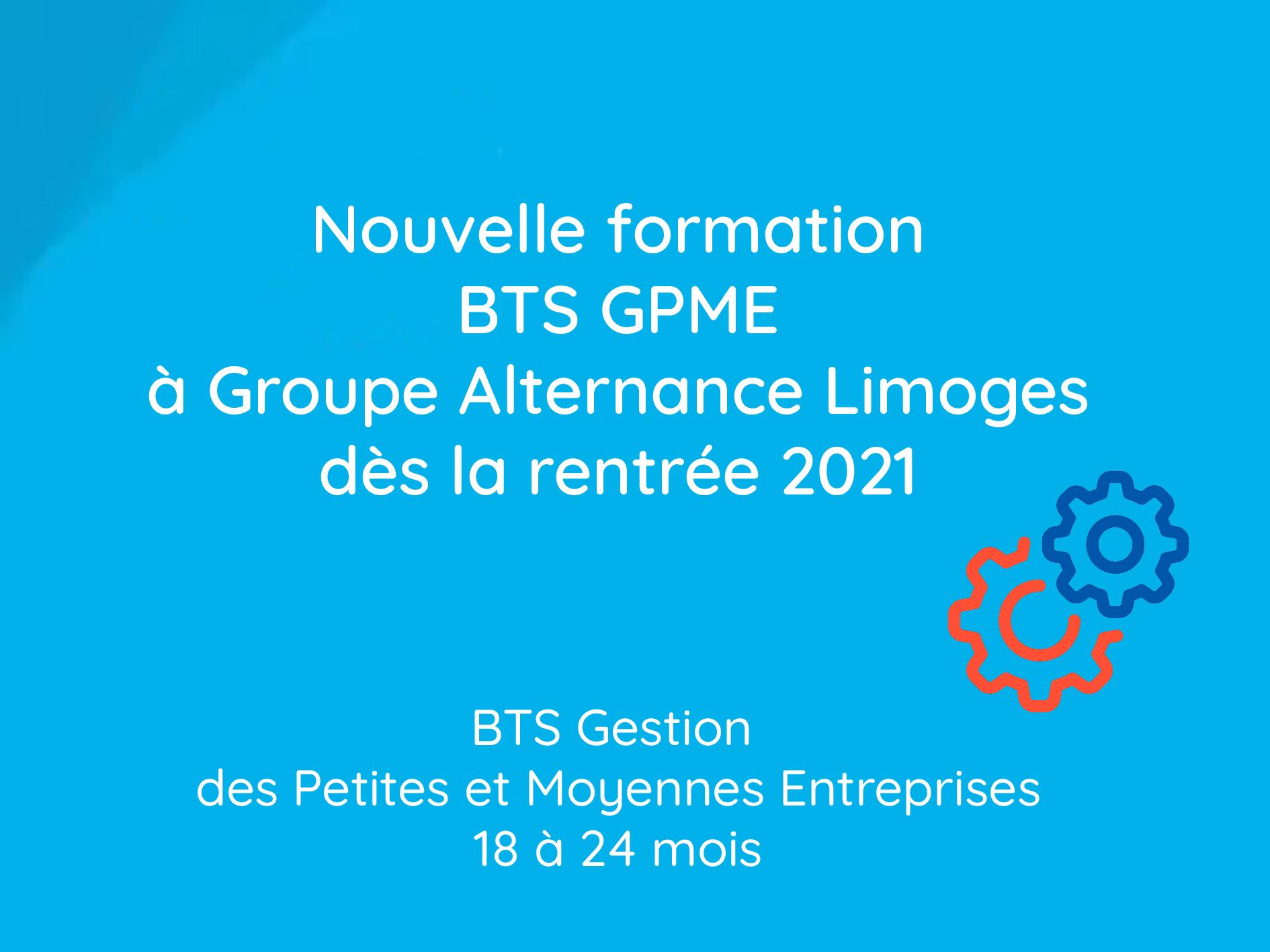Groupe alternance Limoges formation BTS GPME rentrée 2021